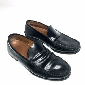 TODS Patent Black Leather Slip-On Dress Loafers